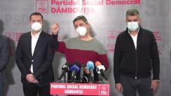 Conferință de presă susținută de președintele PSD, Marcel Ciolacu