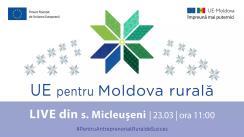 """LIVE Tour """"UE pentru Moldova Rurală"""": Cunoaște istoria de succes a beneficiarului PARE 1+1, Victor Ciolacu din s.Micleușeni, r. Strășeni"""