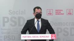 Conferință de presă susținută de senatorul Stefan Radu Oprea, purtătorul de cuvânt al PSD
