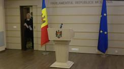 Declarațiile fracțiunii Partidului ȘOR și Grupului Pentru Moldova după ședința Parlamentului Republicii Moldova din 22 martie 2021