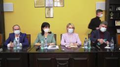 Conferință de presă susținută de președintele PSD, Marcel Ciolacu, secretarul general al PSD, Paul Stănescu, prim-vicepreședintele PSD, Gabriela Firea