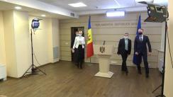 """Briefing de presă susținut de către deputații Platformei parlamentare """"Pentru Moldova"""" și fracțiunea Partidului """"ȘOR"""""""