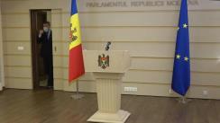 Declarațiile lui Octavian Țîcu în timpul ședinței Parlamentului Republicii Moldova din 25 martie 2021