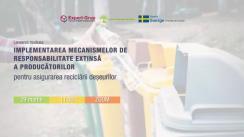 """Lansarea studiului """"Implementarea mecanismelor de responsabilitate extinsă a producătorilor pentru asigurarea reciclării deșeurilor"""" de către Centrul Analitic Independent """"Expert-Grup"""" în colaborare cu Centrul Național de Mediu"""