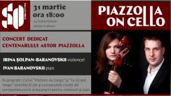 Concert la Sala cu Orgă. Piazzolla on cello