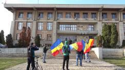 Protest organizat de Partidul AUR, în fața Prefecturii Iași, împotriva restricțiilor Covid-19