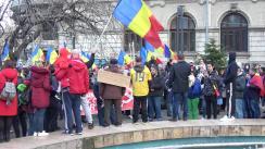 Protest în Piața Universității anti-restricții în Municipiul București