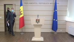 """Briefing de presă susținută de deputatul Octavian Țîcu cu tema """"Declarația privind sesizarea Curții Constituționale cu privire la neconstituționalitatea Partidului ȘOR"""""""