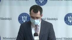Declarații susținute de Ministrul Sănătății, Vlad Voiculescu, despre măsurile pentru gestionarea pandemiei COVID-19