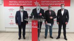 """Briefing de presă organizat de PSRM cu tema """"Primele o sută de zile de haos ale Maiei Sandu"""""""