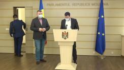 Briefing de presă susținut de către deputații fracțiunii parlamentare PSRM