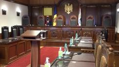 Ședința Curții Constituționale privind examinarea sesizării sesizării nr. 151g/2020 privind excepția de neconstituționalitate a articolelor 77, 81 și 315 din Codul de procedură penală