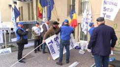 Miting de protest la Ministerul Tineretului și Sportului organizat de Sindicatul Național Sport și Tineret, împotriva politicilor anti-sport promovate de actuala conducere a MTS