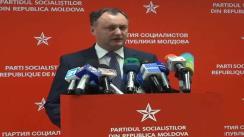 Briefing susținut de Igor Dodon după întâlnirea cu Nicolae Timofti