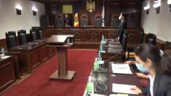 Ședința Curții Constituționale de examinare a sesizării privind constatarea circumstanțelor care justifică dizolvarea Parlamentului
