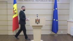 Briefing de presă susținut de către deputatul Octavian Țîcu privind caracterul neconstituțional al instituirii stării de urgență