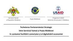 Încheierea Parteneriatului Strategic între Serviciul Vamal și Poșta Moldovei în contextul facilitării comerțului și al digitalizării economiei