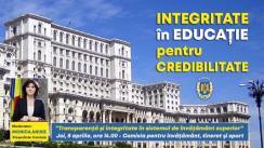 """Workshop organizat de Comisia pentru învățământ, tineret și sport a Senatului României  cu tema """"Transparență și integritate în sistemul de învățământ superior"""""""