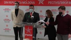 """Conferință de presă susținută de reprezentanții aripei de tineret a PSRM """"Garda Tânără"""" consacrată aniversării Zilei Victoriei"""
