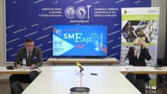 """Conferința de lansare oficială a expoziției virtuale """"SMExpo 2021"""" de pe platforma www.virtual-fairs.md"""