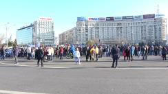 Protest în Piața Victoriei anti-restricții în Municipiul București