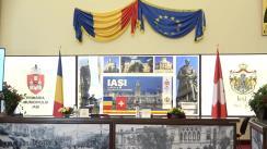 Conferință de presă susținută de Primarul Municipiului Iași, Mihai Chirica, și Ambasadorul Elveției în România, E.S. Arthur Mattli