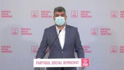Conferință de presă după ședința Biroului Politic Național al Partidului Social Democrat din 12 aprilie 2021