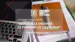 """Dezbaterea publică online organizată de Radio Moldova Tineret și Fundația Friedrich Ebert Stiftung Moldova cu tema """"Educație la distanță: Ce pierdem? Ce câștigăm?"""""""