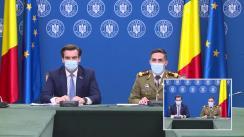 Conferință de presă susținută de președintele Comitetului național de coordonare a activităților privind vaccinarea împotriva SARS-CoV-2 (CNCAV), Valeriu Gheorghiță, și secretarul de stat în Ministerul Sănătății și vicepreședinte CNCAV, Andrei Baciu