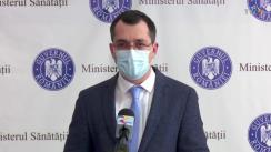 Declarație de presă susținută de Ministrul Sănătății, Vlad Voiculescu, privind evenimentele petrecute la Spitalul de Boli Infecțioase și Tropicale Victor Babeș