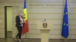"""Briefing de presă susținut de vicepreședintele fracțiunii parlamentare a Partidului """"ȘOR"""", deputatul Violeta Ivanov"""