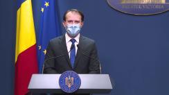 Declarație de presă susținută de premierul României, Florin Cîțu