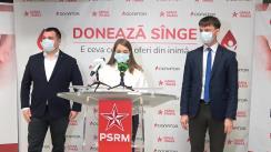 """Conferința de presă organizată de aripa de tineret al PSRM """"Garda Tânără"""" consacrată rezultatelor campaniei naționale caritabile """"Donator"""""""