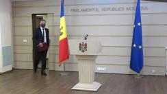 """Briefing de presă susținut de către deputatul Partidului """"ȘOR"""", Vadim Fotescu"""