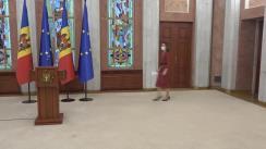 Conferință de presă susținută de Președintele Republicii Moldova, Maia Sandu