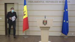 Declarațiile lui Lilian Carp în timpul ședinței Parlamentului Republicii Moldova din 16 aprilie 2021
