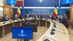 Conferință de presă susținută de Prim-ministrul României, Florin Cîțu în județul Cluj-Napoca