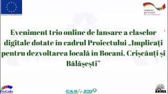 """Eveniment trio online organizat de AO """"Centrul de Instruire și Dezvoltare Personală ANIMA"""" de lansare a claselor digitale cu implicarea donatorilor și reprezentanților UE în 3 gimnazii din satele Bocani, Crișcăuți și Bălășești"""