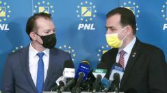 Declarație de presă susținută de Președintele Partidului Național Liberal, Ludovic Orban și Premierul României, Florin Cîțu la finalul reuniunii Biroului Executiv al PNL