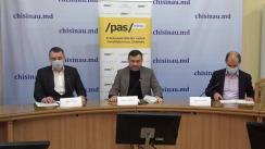 """Conferința de presă organizată de Fracțiunea PAS din CMC cu titlul """"PAS contestă deciziile ilegale ale PSRM și PPDA privind votarea proiectelor care dăunează la dezvoltarea orașului și contribuie la distrugerea centrului istoric"""""""