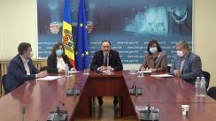 """Briefing de presă organizat de Ministerul Economiei și Infrastructurii cu tema """"Republica Moldova este pregătită pentru implementarea standardelor și calității europene în construcții"""""""