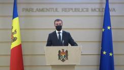 Briefing de presă al președintelui Comisiei Securitate națională, apărare și ordine publică, Sergiu Sîrbu, pe marginea audierilor care vor avea loc în cadrul ședinței comisiei