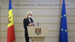 Briefing de presă susținut de către deputatul Partidului ȘOR, Marina Tauber
