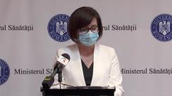 Declarație de presă susținută de Ministrul Sănătății din România, Ioana Mihăilă