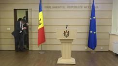 Declarația fracțiunii Partidului Acțiune și Solidaritate în timpul ședinței Parlamentului Republicii Moldova din 23 aprilie 2021