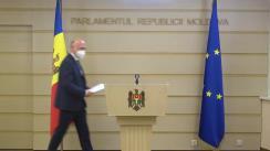 Declarația fracțiunii Partidului Democrat din Moldova în timpul ședinței Parlamentului Republicii Moldova din 23 aprilie 2021