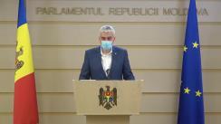 Declarațiile lui Alexandru Slusari în timpul ședinței Parlamentului Republicii Moldova din 23 aprilie 2021