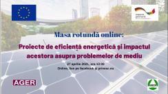 """Masa rotundă organizată de Asociația pentru Guvernare Eficientă și Responsabilă și AO ADR """"Habitat"""" cu tema """"Proiecte de eficiență energetică și impactul acestora asupra problemelor de mediu"""""""