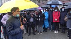 Protest în fața Curții Constituționale a Republicii Moldova