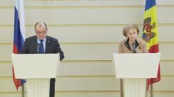 Declarații de presă ale Președintelui Parlamentului Republicii Moldova, Zinaida Greceanîi, și a delegației Dumei de Stat din Federația Rusă
